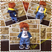 Текстильная кукла Антошка