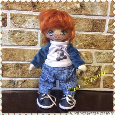 Текстильная кукла Антошка ручной работы на заказ