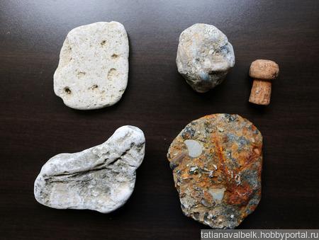 Морские камни набор 2 камешки дары моря ручной работы на заказ