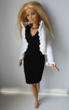 Деловой вязаный костюм для куклы ручной работы на заказ