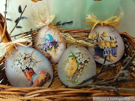 Пасхальные сувенирные яйца ручной работы на заказ