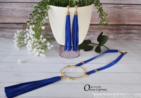 """Комплект """"Dress Code Blue"""" из натуральной кожи ручной работы на заказ"""