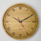 Часы настенные из дуба. ЧД6