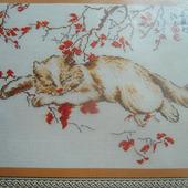 """Набор для вышивки """"Спящий кот"""""""