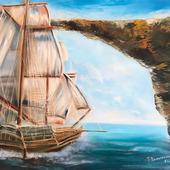 "Картина ""Пиратский корабль"""