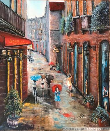 """Картина """"Летний дождь"""" ручной работы на заказ"""