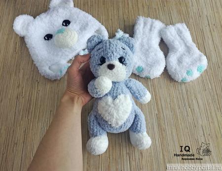 Плюшевая игрушка Сердечный Котик ручной работы на заказ