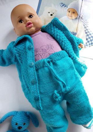 Вязаный костюм для малыша - кофта и штаны ручной работы на заказ