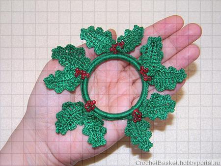 Набор вязаных рождественских веночков ручной работы на заказ