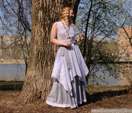 Платье с подъюбником летнее в стиле бохо ручной работы на заказ