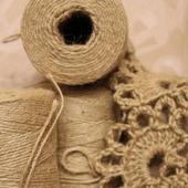 Пряжа джутовая 1.5 мм для вязания и филиграни