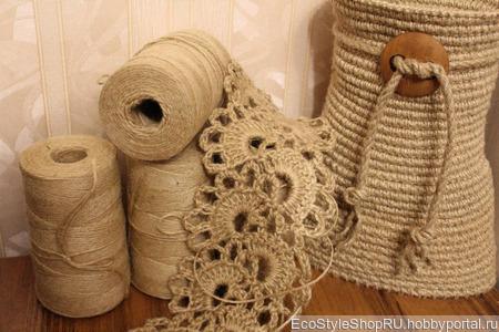 Пряжа джутовая 1.5 мм для вязания и филиграни ручной работы на заказ