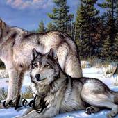 "Схема вышивки крестом ""Волки"""