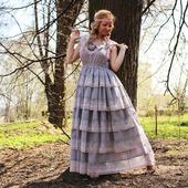 Платье в стиле шебби хлопковое летнее