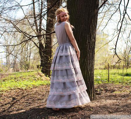 Платье в стиле шебби хлопковое летнее ручной работы на заказ