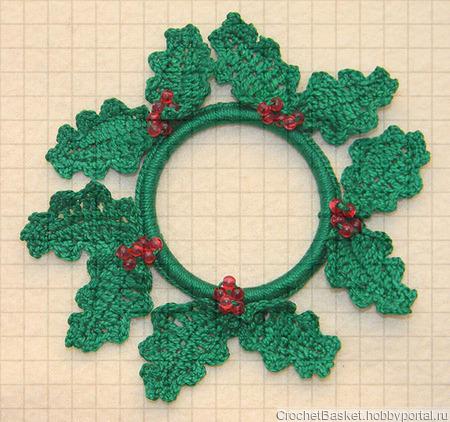 Вязаная игрушка «Рождественский гусь» ручной работы на заказ
