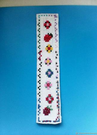 Закладка с цветочным мотивом, узкая ручной работы на заказ