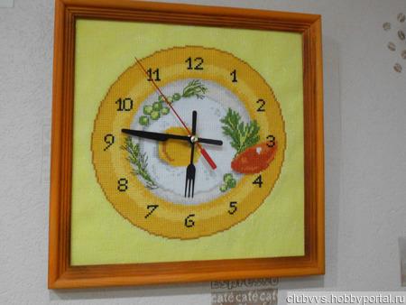 """Часы """"Время завтракать"""" ручной работы на заказ"""