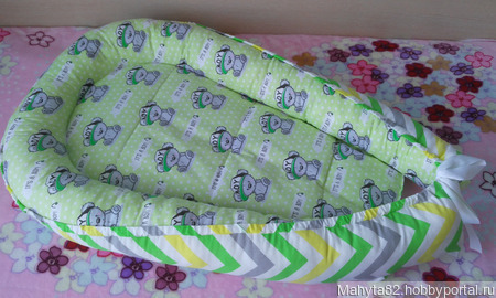 Кокон-гнездышко для новорожденного ручной работы на заказ