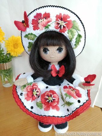 Интерьерная кукла Маковка ручной работы на заказ