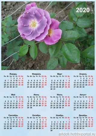 """Календарь настенный """"Розы"""" ручной работы на заказ"""