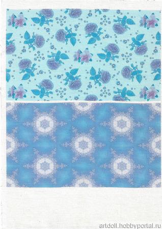 """Рисунок для печати на ткани """"Голубая роза"""" ручной работы на заказ"""