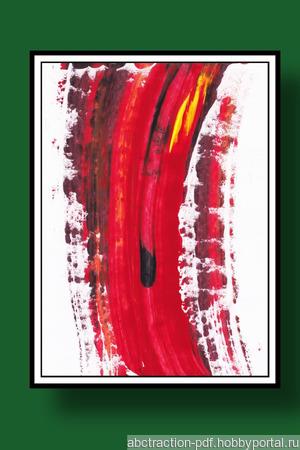 Абстрактный рисунок ручной работы на заказ