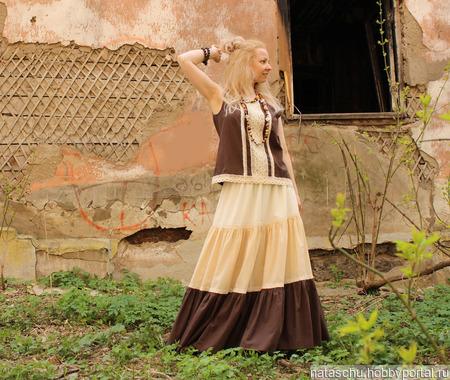 Батистовый комплект (юбка+ топ) ручной работы на заказ