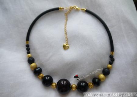 Колье-чокер «Черное золото» ручной работы на заказ