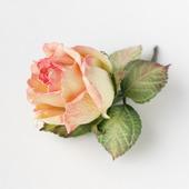 """Брошь объемная с цветком розы из фоамирана """"Роза чайная"""""""