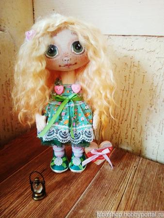 "Текстильная кукла ""Рыжик"" ручной работы на заказ"