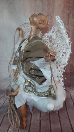 Будуарная кукла: Задумчивый Ангел ручной работы на заказ