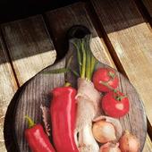 """Кухонная досточка """" Овощи"""""""