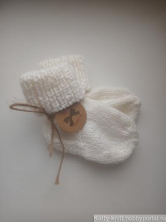 Носочки для новорожденных ручной работы на заказ