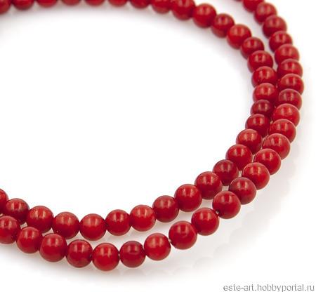 Коралл красный, шар ручной работы на заказ