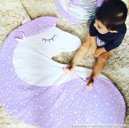 Корзина для игрушек и игровой коврик ручной работы на заказ