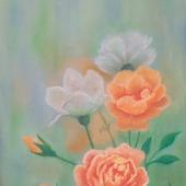 """Картина пастелью """"Букет роз"""""""