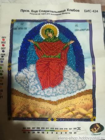 Икона Пресвятой Богородицы Спарительница Хлебов ручной работы на заказ