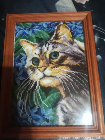 "Картина ""Кошка Мурка"" ручной работы на заказ"