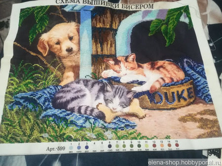 """Картина """"Спящие котята"""" ручной работы на заказ"""