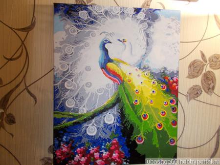 """Картина """"Влюблённые павлины"""" ручной работы на заказ"""