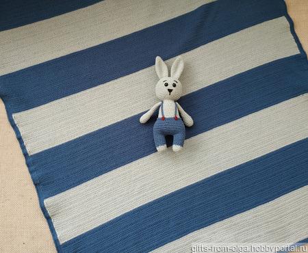 Комплект: детский плед и игрушка зайка ручной работы на заказ