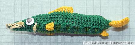 Мастер-класс по вязанию рыбы щуки для начинающих ручной работы на заказ