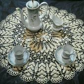 Чайная скатерть вязаная