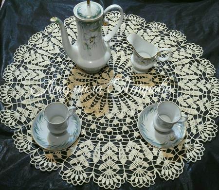 Чайная скатерть вязаная ручной работы на заказ