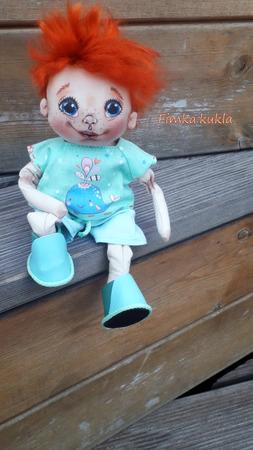 Текстильная кукла мальчик ручной работы на заказ
