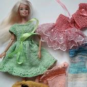 Набор вязаной  одежды для кукол Барби