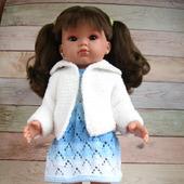 Платье и кардиган для куклы