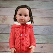 Теплая кофточка для кукол