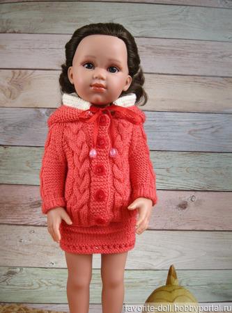 Теплая кофточка для кукол ручной работы на заказ